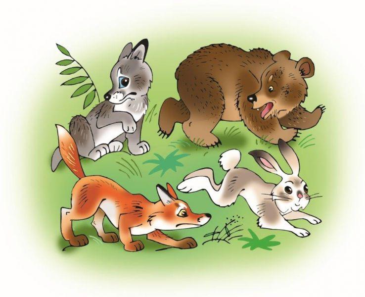 так зайчонок и волчонок картинки известно что